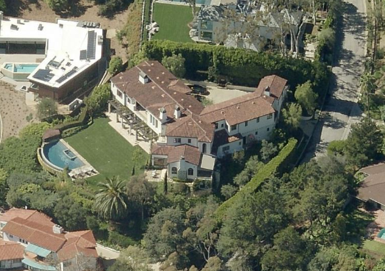 "Tamme's mansion in the ""Riviera"" section of Pacific Palisades"